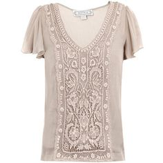 Beyond Vintage Crochet-front blouse