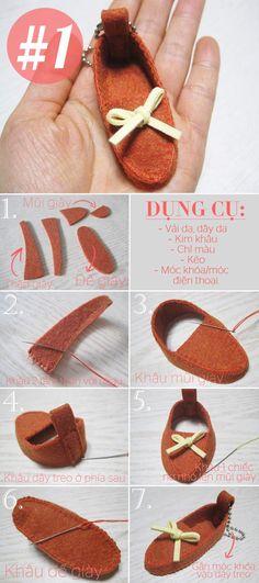 3 cách làm móc khóa hình chiếc giày đáng yêu 1