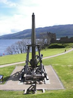 Urquhart Castle trebuchet, Loch Ness, Scotland