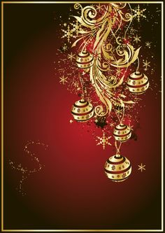marune and gold christmas wallpaper Merry Christmas Card, Christmas Scenes, Christmas Clipart, Christmas Pictures, Christmas Art, Vintage Christmas, Christmas Holidays, Christmas Decorations, Xmas