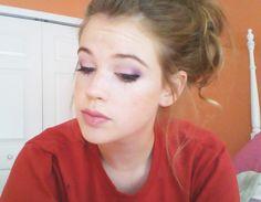 #purple #makeup Grins & Needles blog.