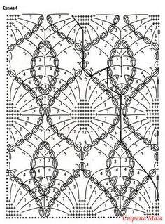 Openwork sheath dress with open shoulders. (crochet) - Country of Moms crochet summer tops free patterns Crochet Bedspread Pattern, Crochet Lace Edging, Crochet Flower Patterns, Crochet Diagram, Crochet Stitches Patterns, Crochet Chart, Irish Crochet, Stitch Patterns, Knit Crochet