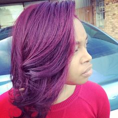 Stunning hair thanks to #PlumPassion and @mzlicnd2kutup.