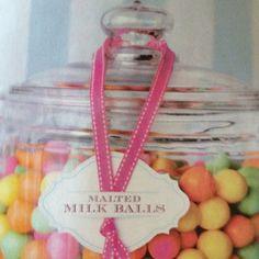 Candy bar idea.