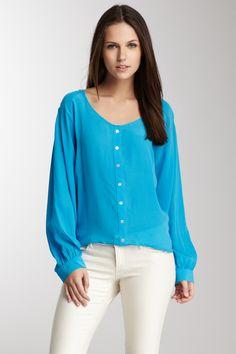 Silk Long Sleeve Crop Top <3