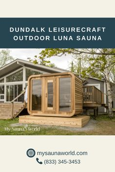 A very stylish and modern-looking outdoor sauna with a 2-tier bench layout option is what makes this Outdoor Luna truly special. With plenty of room, you get complete control over the intensity of your sauna sessions: use the lower bench for hot, and the upper bench for REALLY hot. Plus, there's always room to lie down. Tiered Seating, Traditional Saunas, Outdoor Sauna, Side Wall, Shed, Bench, Layout, Outdoor Structures, Stylish