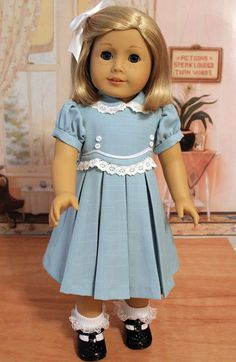 1930s Frock for 18 Inch Dolls like Kit and Ruthie by BabiesArtUs