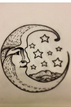 Love this crescent moon with the mountains and stars, wish the mountains were a little sharper and with color!