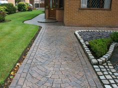 Pavers Over Concrete For A Better Outdoor Spot : Pattern Imprinted Concrete  Garden Path Blackpool