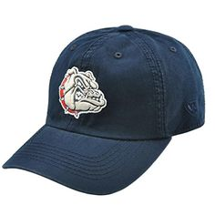 Gonzaga Bulldogs Enzyme Washed Adjustable Hat - Navy , - Adjustable  http://allstarsportsfan.com/product/gonzaga-bulldogs-enzyme-washed-adjustable-hat-navy/?attribute_pa_size=adjustable  Team color adjustable washed cotton hat Primary 3D logo on the front Secondary mark on the woven flag label on the back