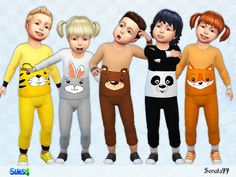 Sims 4 CC's - The Best: Toddlers Set by Sonata77
