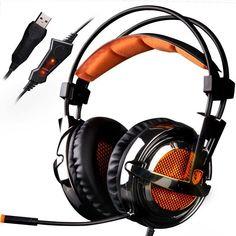 KLIM Fox - Gamer Headset mit Mikro - 7.1 Surround-Sound - Hochqualitativer Klang - Perfekt für PC und PS4 Gaming  EUR 49,90
