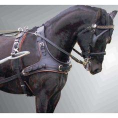 harnais attelage en cuir collier bricole pour chevaux
