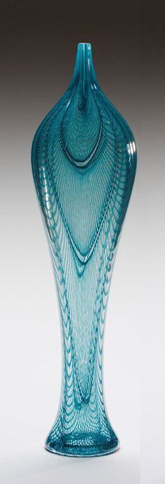 """Sage Iris Form""  Art Glass Vessel  Created by Kenny Pieper. #glassart #artglass #artwork http://www.pinterest.com/TheHitman14/art-glasscrystal-%2B/"