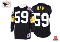 ab8de60f9d0 Jack Ham Men's Authentic Black Jersey: Mitchell and Ness NFL Pittsburgh  Steelers Home Throwback