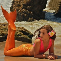 A Mermaid tail. My daughter wants one so bad. You can actually swim in them. Once she knows how to swim well, I will definitely be getting her one. :)
