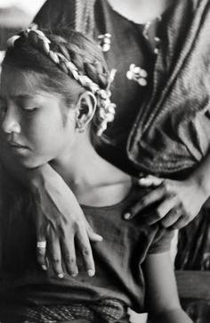 Mexico (girl with braids), Mexico 1934 -by Henri Cartier-Bresson    Unseen: Never before printed works of Henri Cartier-Bresson