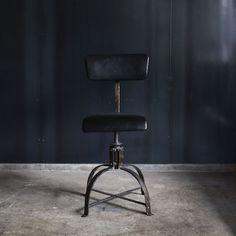 """商品詳細 """"Bienaise"""" Industrial Chair with Leather/ビエネーゼチェアー Industrial Chair, Stationary, Stool, Interior, Leather, Furniture, Home Decor, Atelier, Decoration Home"""