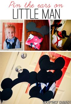 "she took a picture of her child and cut out mickey mouse ears and played ""pin the ears""."