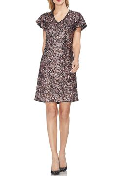 78ddc2ac475 Vince Camuto Flutter Sleeve Multi Sequin Shift Dress Latest Clothing  Trends