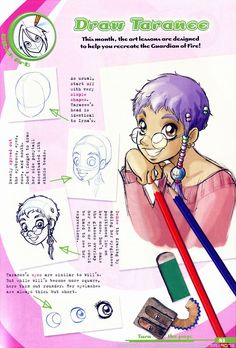 Concept art of Taranee Cook from W.I.T.C.H.