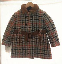 Manteau fille vintage laine par Jeanneetlouis sur Etsy