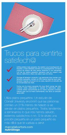 Trucos para sentirte satisfech@ - Noticias Saludables