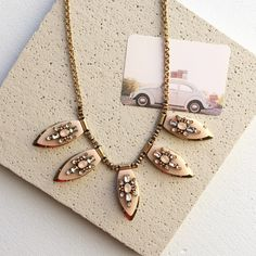 Stunning statement necklace Blush color, soft peach color statement necklace from Jcrew factory J. Crew Jewelry Necklaces