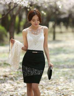 faldas coreanas elegantes - Buscar con Google