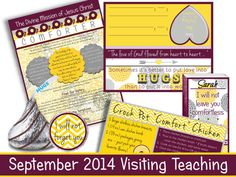 September 2014 LDS Visiting Teaching Message and Handouts...adorable yellow and gray floral mums! Perfect set of designs for this month's message!