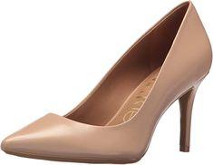The Calvin Klein Women's Gayle Metallic Stingray Pump, desert sand: CALVIN KLEIN is a world way of life model that exemplifies daring, progressive beliefs and a Classic Pumps, Pump Shoes, Women's Shoes, Shoe Sale, Girls Shoes, Stiletto Heels, Stilettos, Peep Toe, Heels