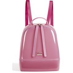 Furla Candy Small Backpack ($300) ❤ liked on Polyvore featuring bags, backpacks, orchidea, purple bags, furla, day pack backpack, shoulder strap backpack and purple backpack