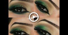 Traditional Indian/Pakistani Bridal Smokey Eye Mehendi Makeup up Green And Gold Glitter Eyeshadow Tutorial, Glitter Eye Makeup, Gold Makeup, Smokey Eye Makeup, Party Makeup Tutorial, Smoky Eye Makeup Tutorial, Green Smokey Eye, Natural Smokey Eye, New Makeup Ideas