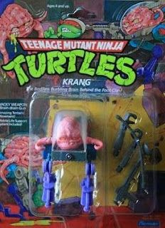Krang - one of the rarest of the original series toys.