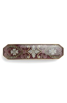 'Rialto' Floral Enamel Barrette http://picvpic.com/women-accessories-hats/rialto-floral-enamel-barrette#burgundy~multi