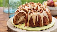This beautiful Apple-Cream Cheese Bundt Cake is one of our most popular recipes for good reason. It's superbly moist, with a sweet cream…