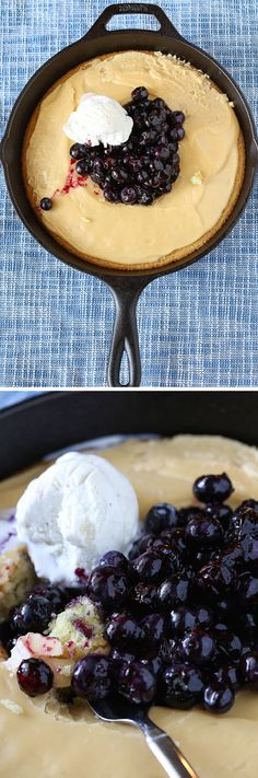 Hot Yellow Cake with Crackle Icing and a Blueberry Pile: This recipe knocks it STRAIGHT out of the park in terms of ease, speed, and deliciousness. It's a must-make!!