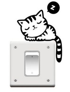 HS006 Wholesales free shipping 14.5*11cm lovely animal picture multitypes wall switch sticker(1piece)-in Wall Stickers from Home & Garden on Aliexpress.com | Alibaba Group