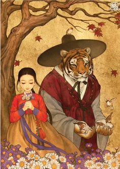 The creations ofNa Young Wu, aka Obsidian, a Korean illustrator who likes to give a nice Asian touch to famous European tales and Disney classics with a bea