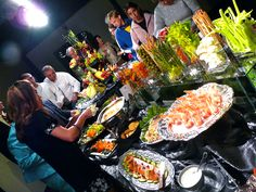 Spectacular buffet by Carl Jones, Premier Place Catering at a wedding reception.
