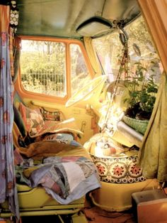 inside of a hippie bus ♥