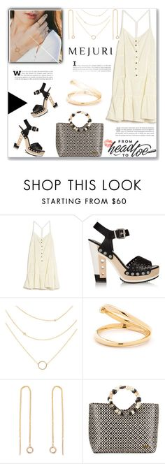 """""""Jen Chae x Mejuri"""" by mood-chic ❤ liked on Polyvore featuring Current/Elliott, Fendi, Cappelli, contestentry and jenchaexmejuri"""