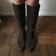 """Seychelles knee high boots from Anthropologie Beautiful brown knee high boots carried by Anthropologie, by Seychelles. Size 6. Gorgeous suede. Good condition. Sold out at anthro. Great with dresses, boots, shorts, any outfit!  Perfect fall boots. Price firm. note- these are knee high and not above the knee. 15.5"""" circumference. Anthropologie Shoes Over the Knee Boots"""