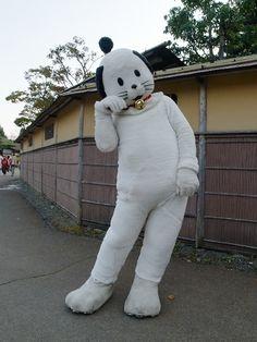 #AAtoAsia Nikko Edo Wonderland(aka Ninja Land), Tochigi/Japan. You can try Ninja and Kimono costumes for fun.  Nyan-Magé is the mascot cat of here.