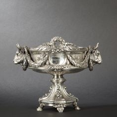 Odiot, Paris. French Ministry silvered bronze cup 1881.   expertissim