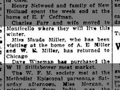 Miller, Loretta Maude: Visiting A.E. Miller
