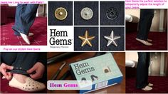 COOL FIND OF THE WEEK. HEM GEMS. Hem Gems are stylish pins that allow you to temporarily adjust the length of your Jeans. Hems Gems makes it easy to wear your favourite jeans with your high heeled shoes and also your flat shoes. They come in a variety of styles and colours and also help prevent fraying of your best jeans. €20 for 8 x Pins  http://www.secretfashionfixes.ie/clothing-accessories-!4-cat.html