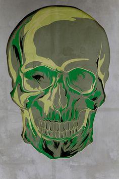Green skull  by SixPixelDesign