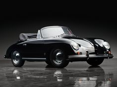 Classic Antique Car Wallpaper Of 1958 Porsche 356A 1600 Cabriolet | New Car Wallpapers