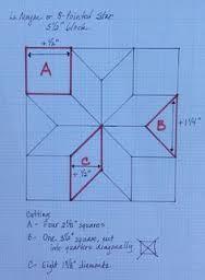Resultado de imagen para molde para la estrella de 8 puntas en patchwork